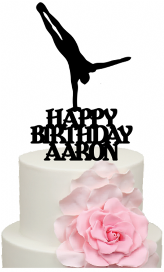 Stupendous Handstand Gymnast With Personalised Name Birthday Cake Acrylic Topper Birthday Cards Printable Trancafe Filternl